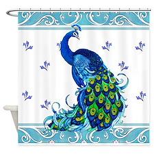 Peacock Swirl Shower Curtain