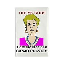 Banjo Player Mother Rectangle Magnet