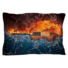 Fire And Water Violin Pillow Case