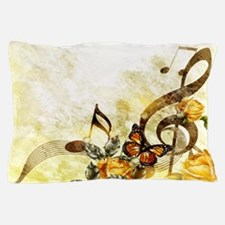 Butterfly Music Notes Pillow Case