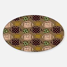 Cool Modern Football Tile Pattern Decal