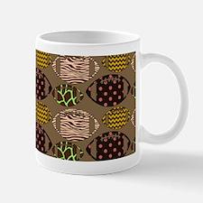 Cool Modern Football Tile Pattern Mugs
