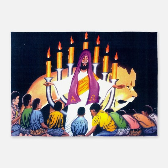 Jesus, the Lion of the Tribe of Jud 5'x7'Area Rug
