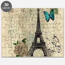 butterfly modern paris eiffel tower Puzzle