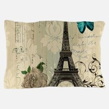 butterfly modern paris eiffel tower Pillow Case
