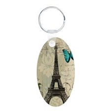 butterfly modern paris eiffel tower Keychains