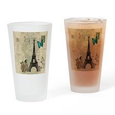 butterfly modern paris eiffel tower Drinking Glass