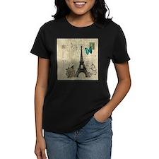 butterfly modern paris eiffel tower T-Shirt
