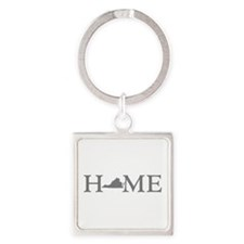 Virginia Home Square Keychain