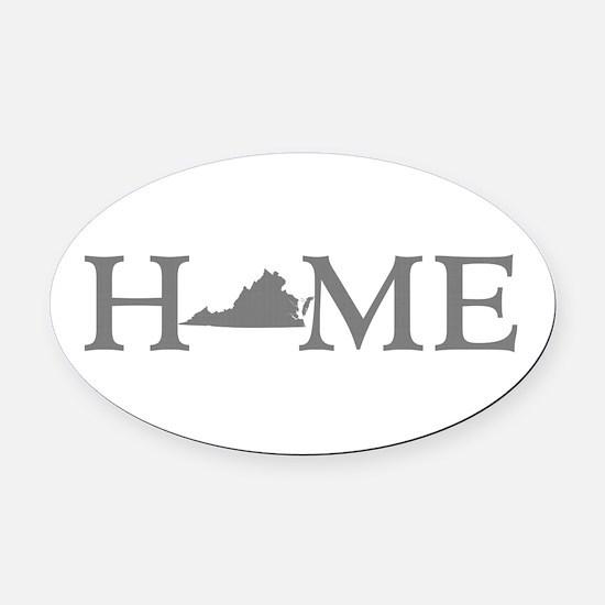 Virginia Home Oval Car Magnet