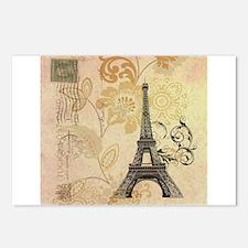 postmark modern paris eiffel tower art Postcards (