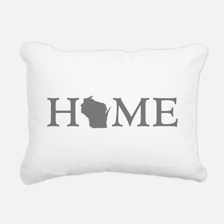Wisconsin Home Rectangular Canvas Pillow