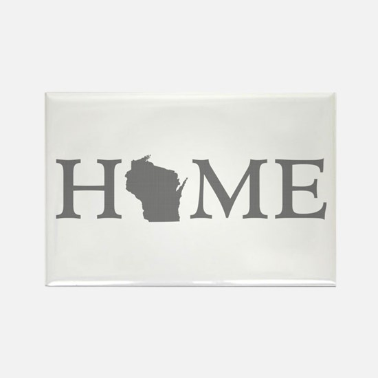 Wisconsin Home Rectangle Magnet