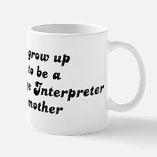 Sign Language Interpreter lik Mug