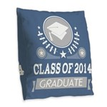 Class of 2014 Graduate Gift Burlap Throw Pillow