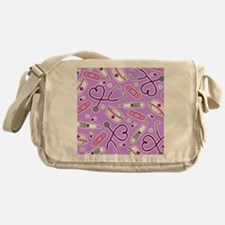 Cute Nurse Love Pattern Purple Messenger Bag