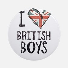 British Boys Ornament (Round)