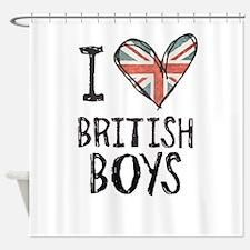 British Boys Shower Curtain