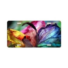 Rainbow Rose Flower Aluminum License Plate