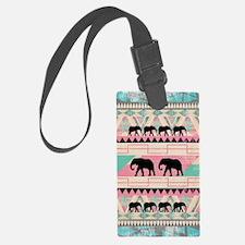 aztec elephant Luggage Tag