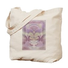Two Angels in Pink Tote Bag