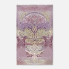 Two Angels in Pink 3'x5' Area Rug