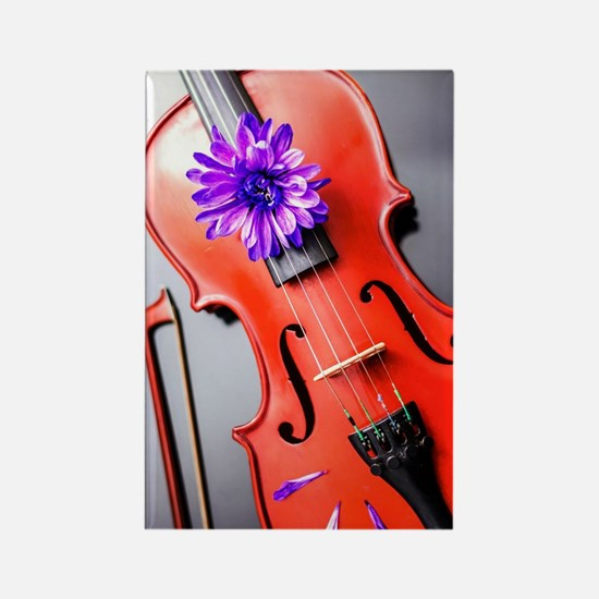 Artistic Poetic Violin Rectangle Magnet