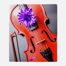Artistic Poetic Violin Throw Blanket