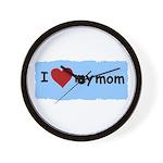 I LOVE MY MOM Wall Clock