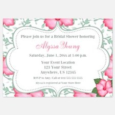 Pink Hibiscus Invitation Invitations