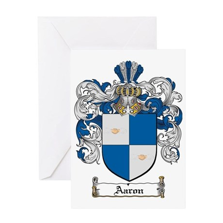 Aaron coat of arms / family crest Greeting Card