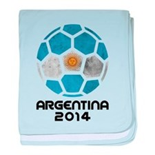 Argentina World Cup 2014 baby blanket