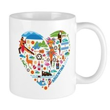 Argentina World Cup 2014 Heart Mug