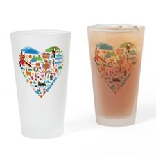 Argentina World Cup 2014 Heart Drinking Glass