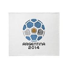 Argentina World Cup 2014 Throw Blanket