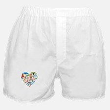 Argentina World Cup 2014 Heart Boxer Shorts