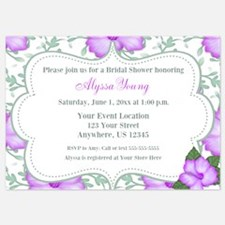 Purple Hibiscus Invitation Invitations