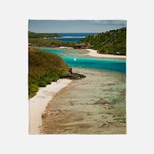 Mantaray island resort, Fiji Throw Blanket