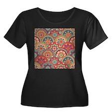 Colorful Circle Pattern Plus Size T-Shirt