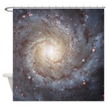 Spiral Galaxy M74 Astronomy Shower Curtain