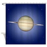 Saturn With Rings Shower Curtain