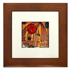 Charles Rennie Mackintosh Stained Glass Framed Til