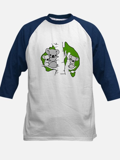 Koala Bears (green) Kids Baseball Jersey