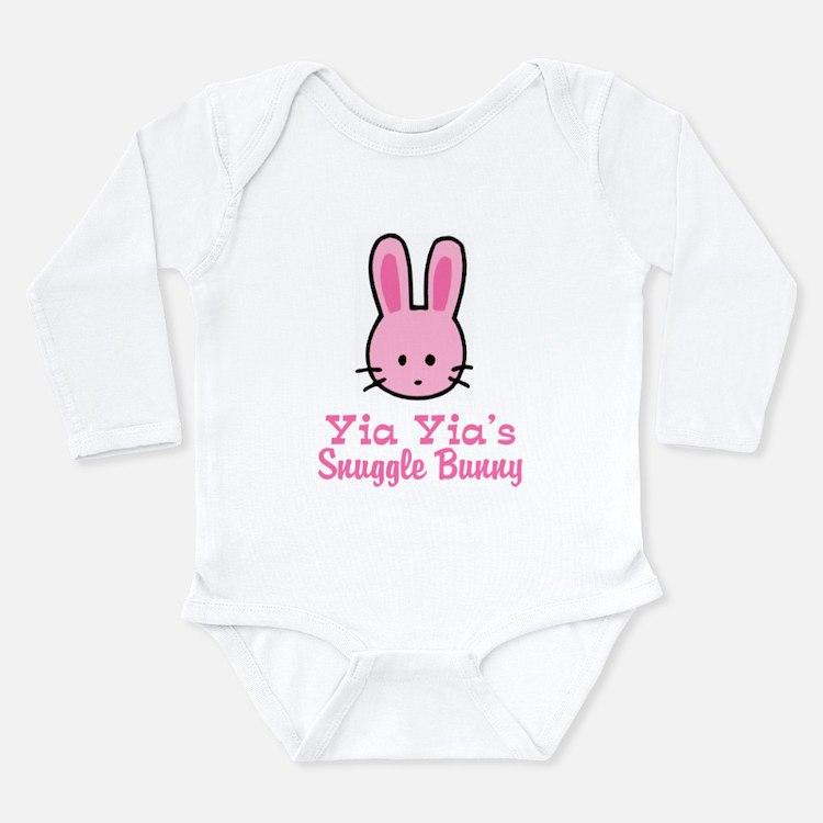 Cute Snuggling Long Sleeve Infant Bodysuit