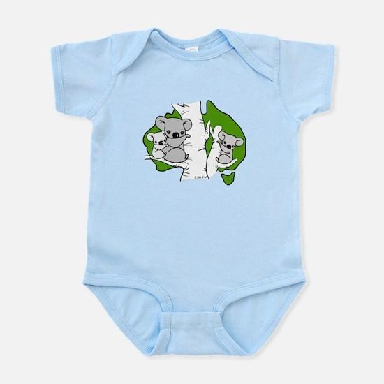 Koala Bears (green) Infant Bodysuit