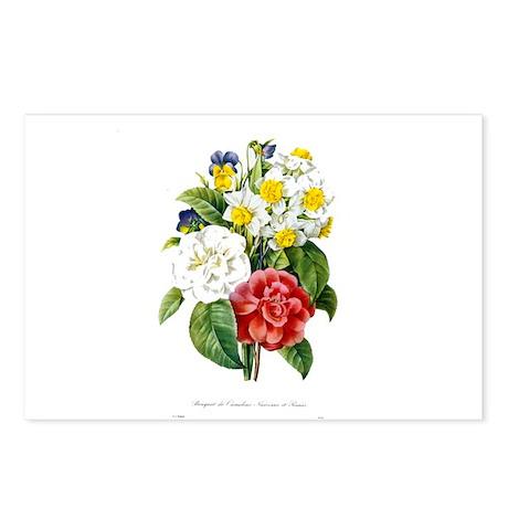 P. J. Redoute colorful flowers illustration. Vinta
