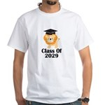 Class of 2029 Graduate (lion) White T-Shirt