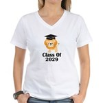 Class of 2029 Graduate (lio Women's V-Neck T-Shirt