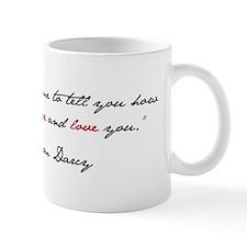 Mr. Darcy Quote Small Small Mug