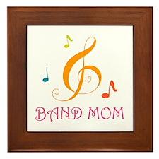 Band Mom Music Stylish Framed Tile